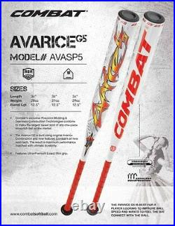 Combat Avarice G5 ASA Slow Pitch Softball Bat AVASP5 34- 27 oz. Limited Edition